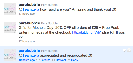 Pure Bubble Tweets
