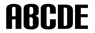 Carbon Black Font Example