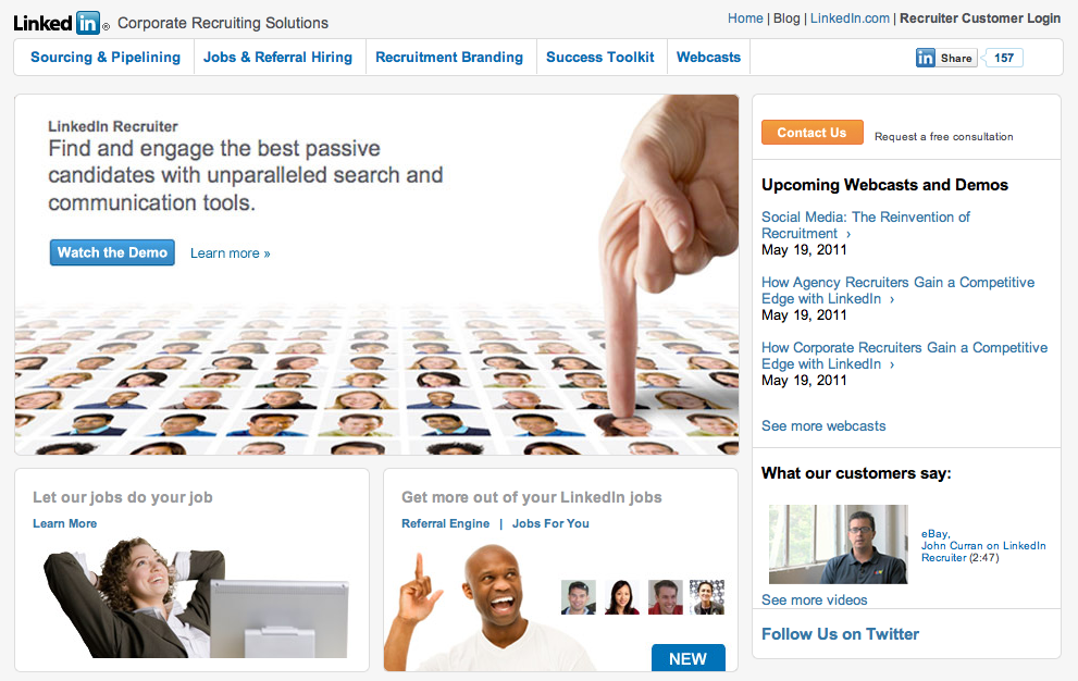 Linkedin Recruiting Screenshot
