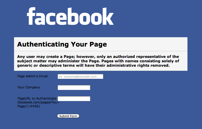 facebook-page-authentication