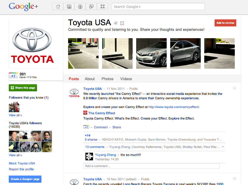 google-plus-toyota-page