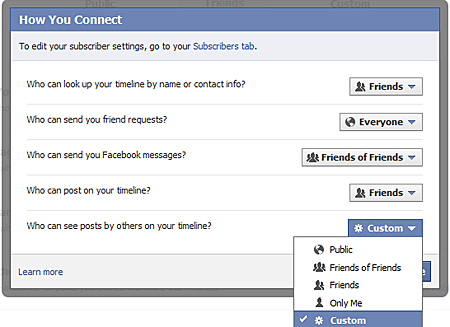 facebook privacy settings