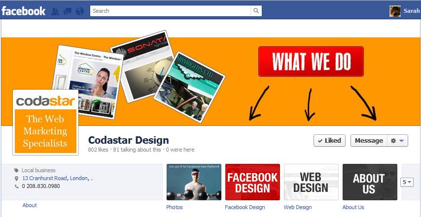 facebook page designer