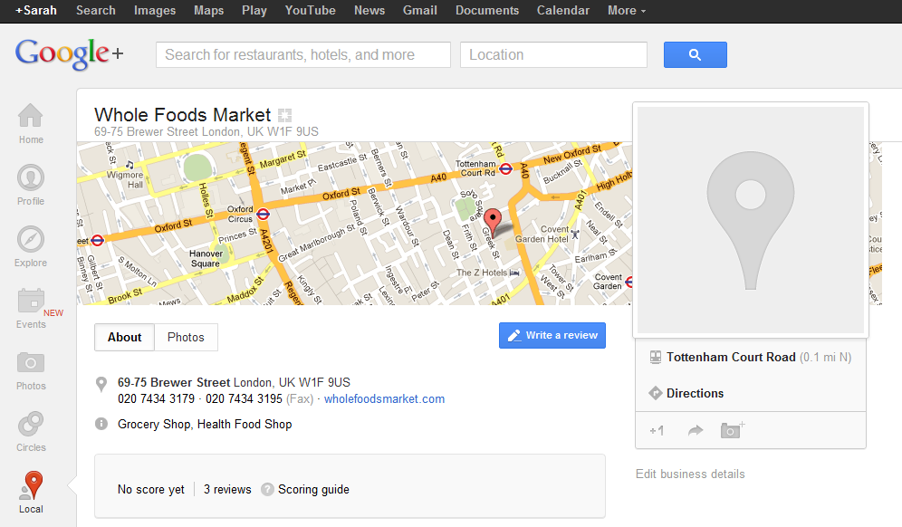 How to leave a review on Google+ local