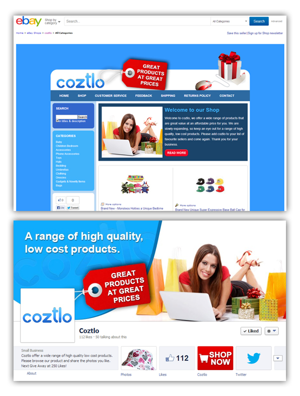Coztlo Social Media Package