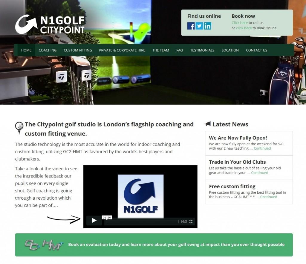 Citypoint Golf Studio Website Design