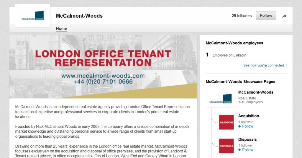 McCalmont-Woods LinkedIn profile Complete Social Media Package