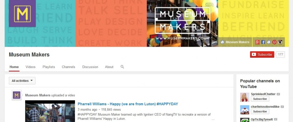 Museum Makers YouTube Profile Design