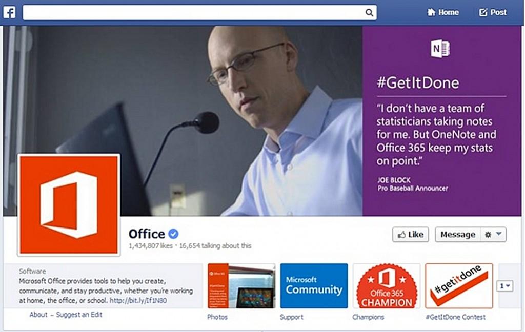 Facebook Timeline Change Microsoft Office