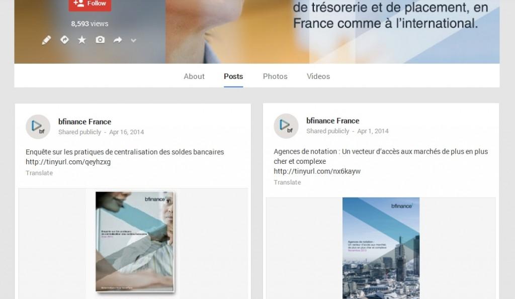 bifinance Google+ Profile Page Design
