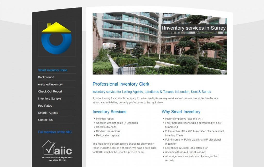 Smart Inventory Service - Old Home Page