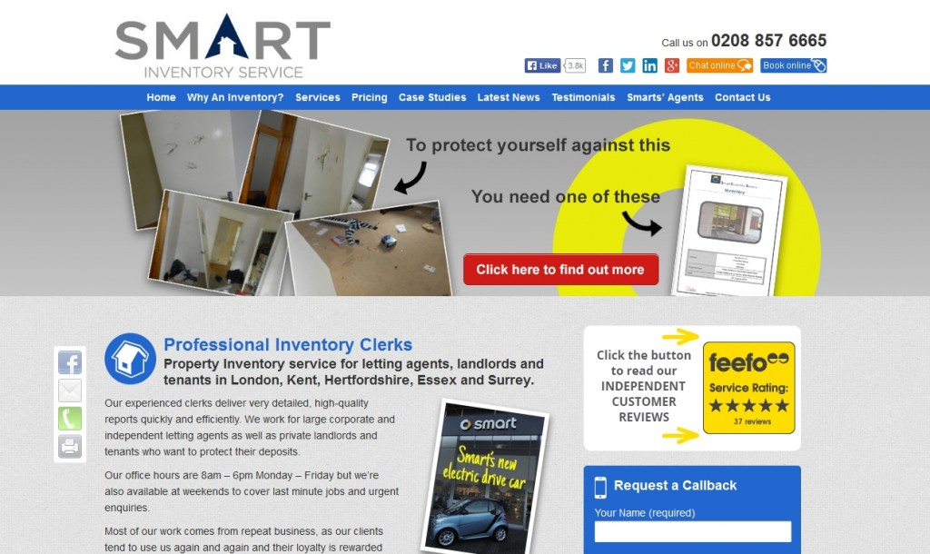Smart Inventory Service Responsive Website Design