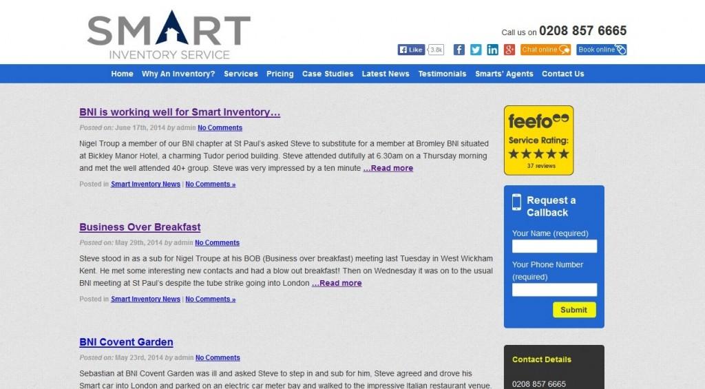 Smart Inventory website redesign, Latest News