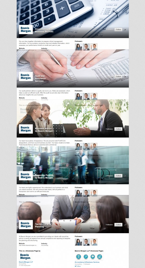 Codastar LinkedIn Products Services Page Design