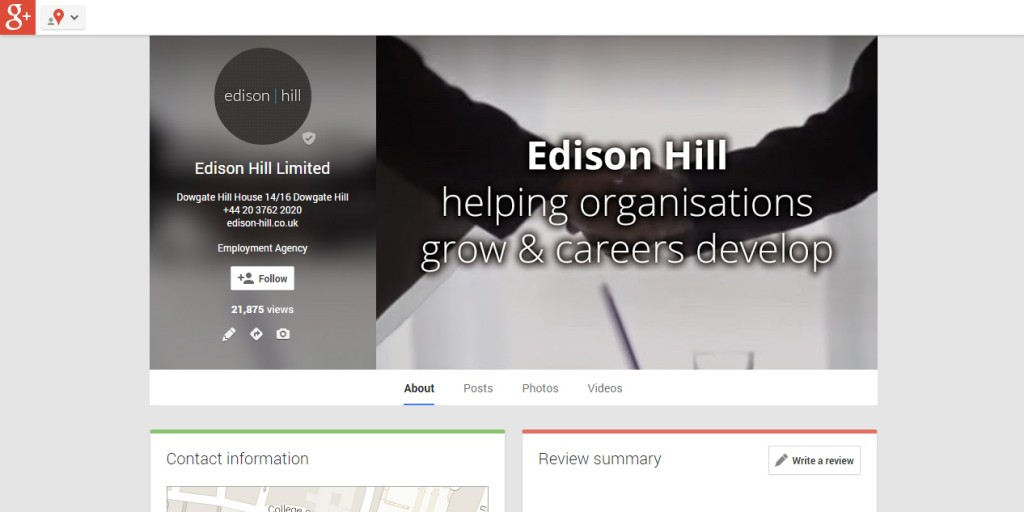 Google + Profile design Codastar