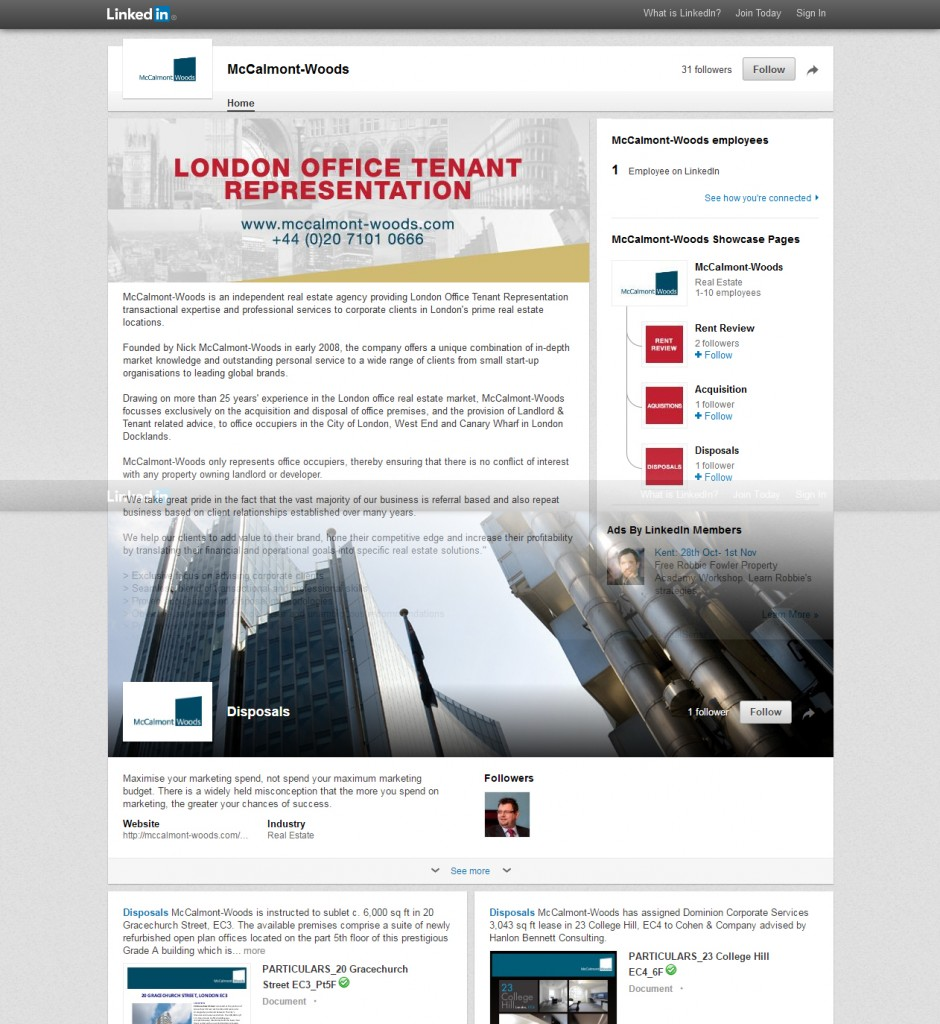 LinkedIn Company Page Showcase Page Design