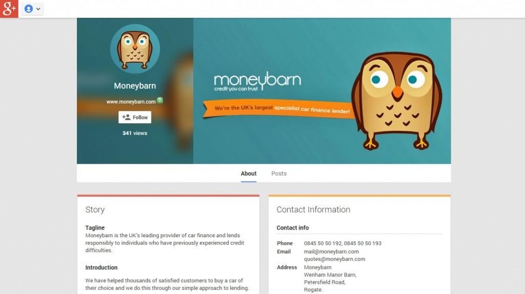 Moneybarn Google+ Design Codastar
