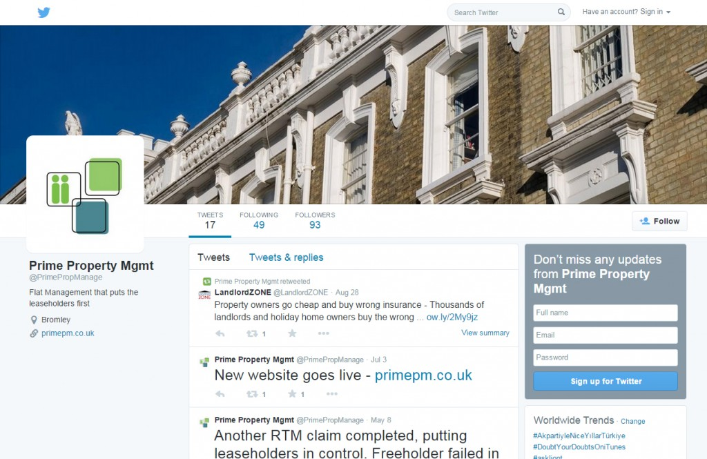 Twitter Profile design codastar