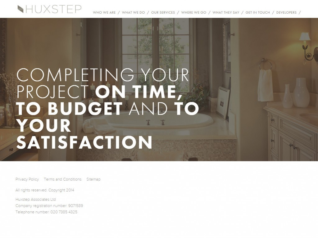 Huxstep Project Management responsive web deisgn