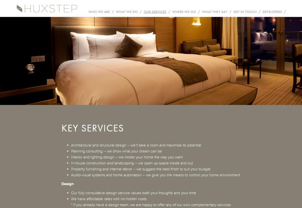 Huxstep services responsive website design Codastar