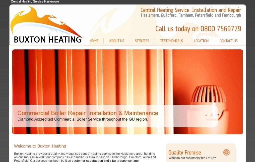 Codastar Web Design Buxton Heating