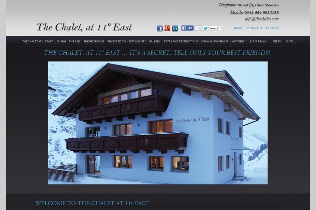 Codastar Website Design Ski Chalet