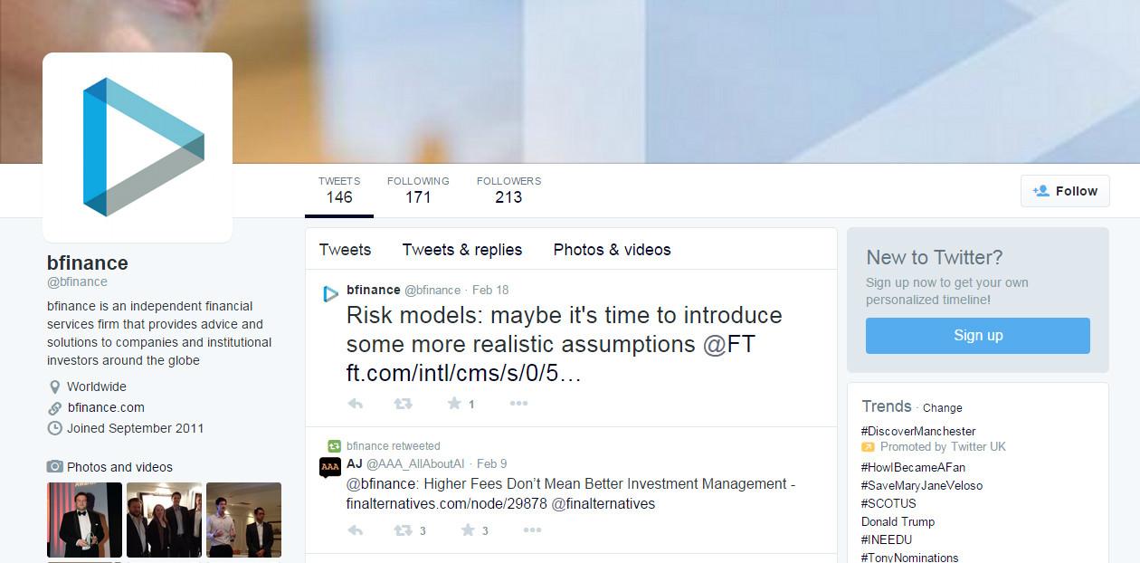 bfinance Twitter