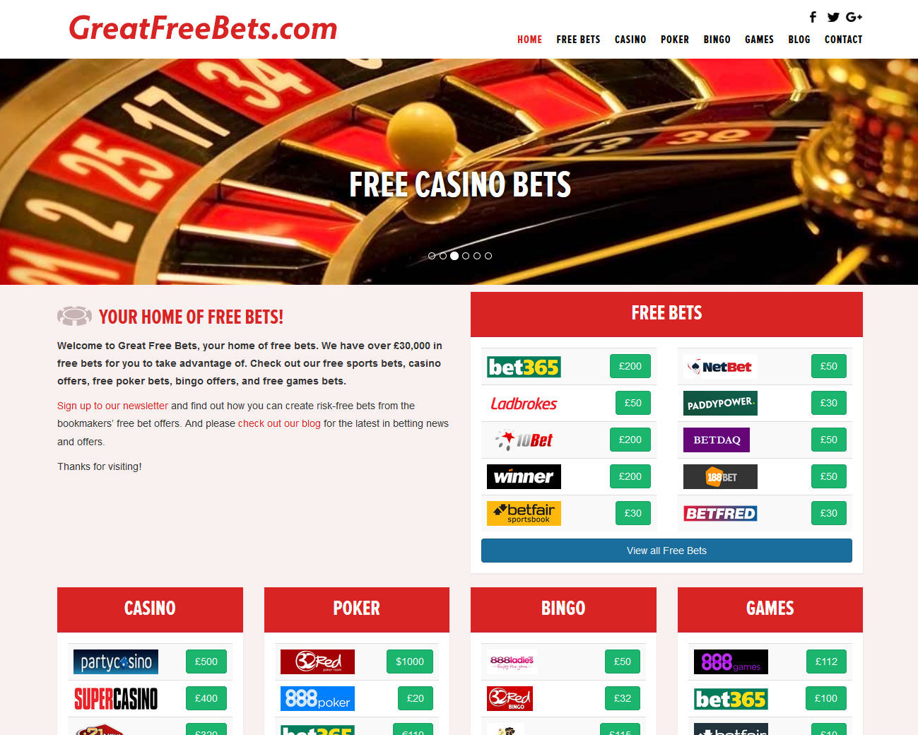 great free bets screenshot